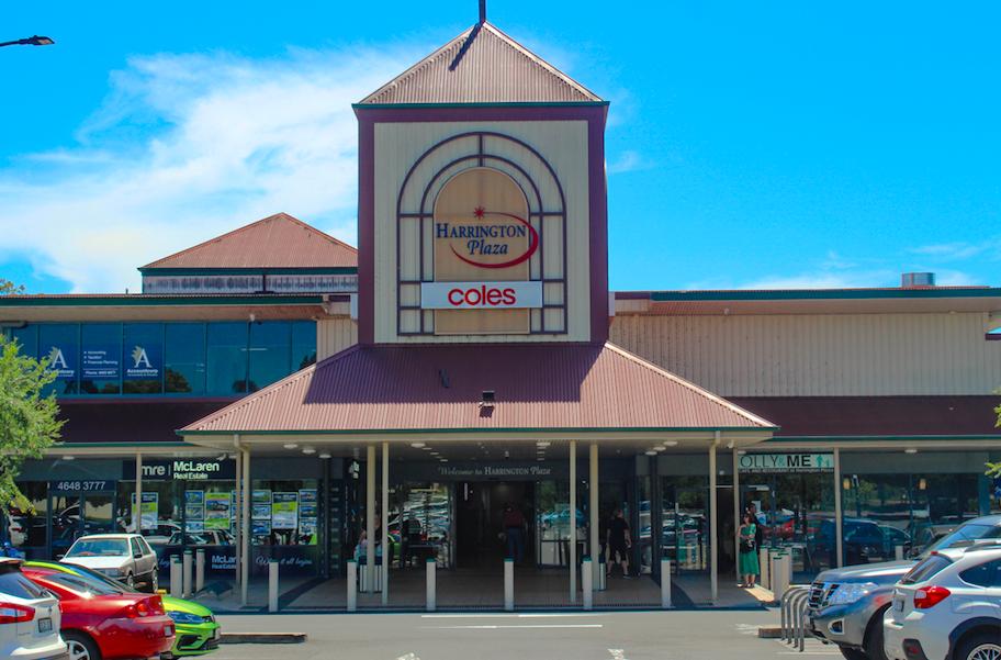 Harrington Plaza Shopping Centre entry